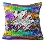 10pcs wholesale large rhombus colorful / silver two tone reversible sequin cushions cover pillow case
