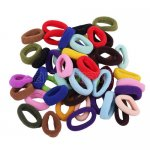 96pcs 15mm Mixed Colors Girl Elastic Hair Ties Band Ponytail Holders Scrunchie