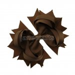 "12pcs 4.5"" Solid Spike Hair Bow Clips-Turftan"