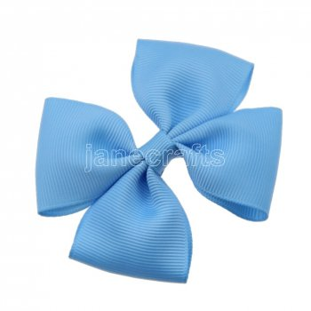 12pcs 3.5  Medium Grosgrain Pinwheel Hair Bow Clips-Blue Mist