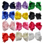 12 pcs 8 inch giant boutique bow w/ alligator clip mix 12 colors