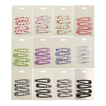 48 pcs 2.5   printed thick snap clips mix color pack