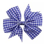 12 pcs school color royal gingham 3 inch pinwheel bow w/ alligator clip