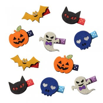 10 pcs Halloween theme clip Set for Baby Girls