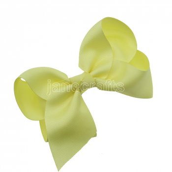 12pcs 5.5  Huge Solid Grosgrain Chunky Boutique Hair Bows Without Clip-Baby Maize