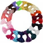 "4"" Satin Hair Bow Clips for girl 22pcs Mix 22 Color"