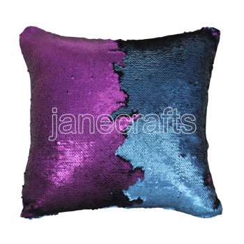 10pcs wholesale blue / purple two tone reversible sequin cushions cover pillow case