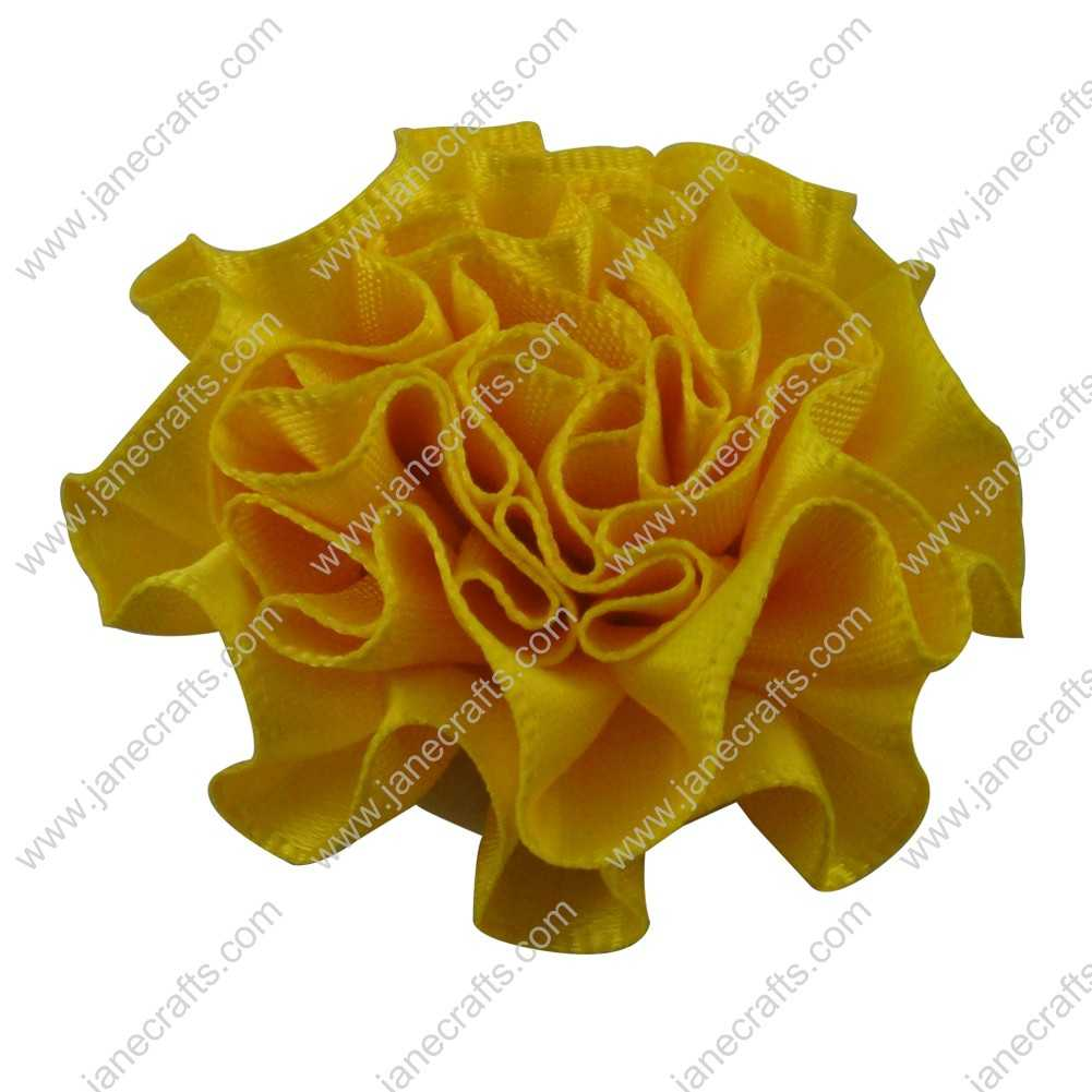 50pcs 2 inch Cabbage Satin Fabric Puff Flowers for Headband-Daffodil