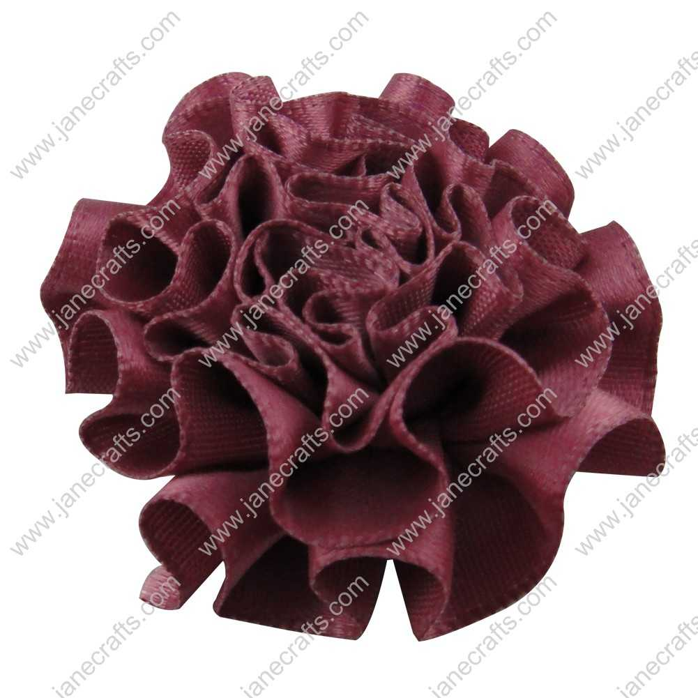 50pcs 2 inch Cabbage Satin Fabric Puff Flowers for Headband-Amethyst