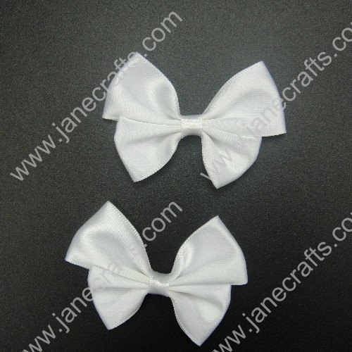 60mm Asymmetric Satin Pinwheel bows in White-25pcs