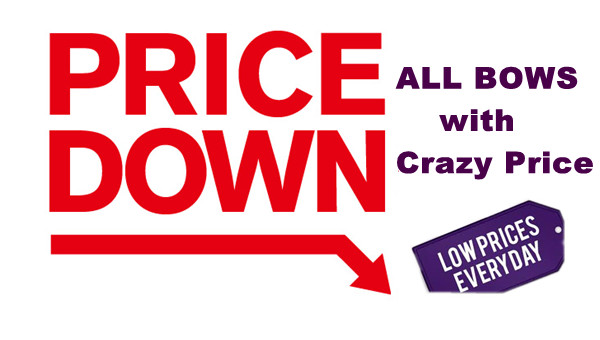 HUGE PRICE DOWN! ALL BOWS 20%-30% OFF!
