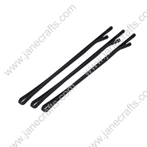 "Hair Accessories Flat Metal Black Bobby Pin Slides 2""-100PCS"