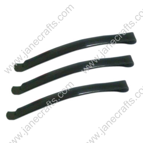 62mm Hair Accessories Long Metal Black Bobby Pins Slides Flat Top-100PCS