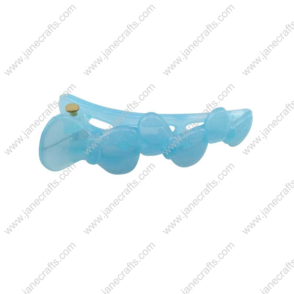 50pcs 51mm Plastic Teeth Alligator Hair bow Clips for Girl Blue