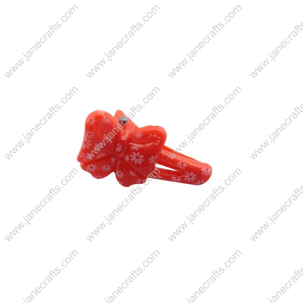 100pcs 27mm Plastic Alligator Hair bow Clips for Girl Red