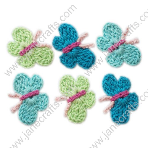 "1 5/8"" Pretty Mini Crochet Butterfly Appliques at Random Color-30PCS"