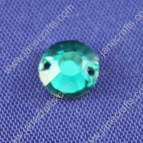Acrylic Rhinestone,Round Flat Back,Green,8mm in Diameter,144pcs
