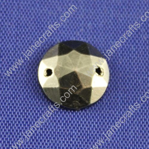 Acrylic Rhinestone,Round Flat Back,black,12mm in Diameter,144pcs