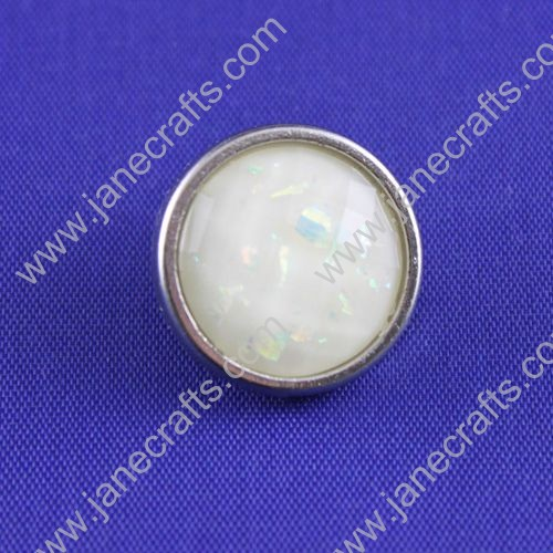 Resin Rhinestone Button,Round,about 22mm in diameter,30pcs