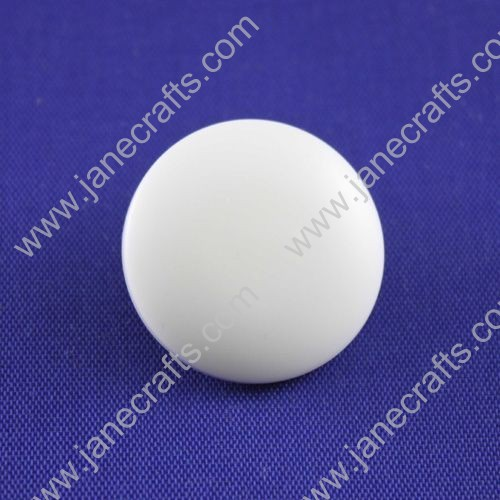 Resin Button,White,about 25mm in Diameter,30pcs