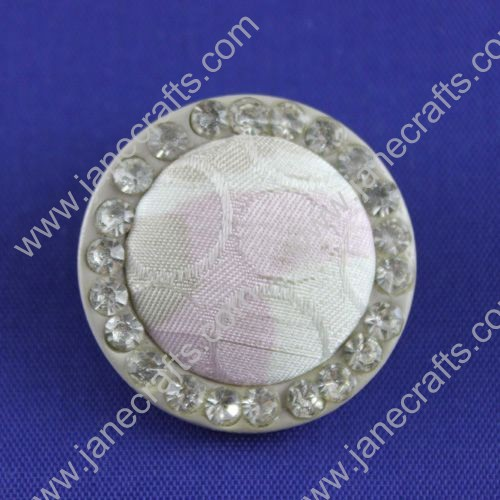 Gorgeous Resin Button with Rhinestones,Round,about 31mm in diameter,30pcs