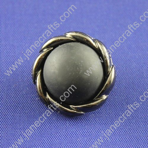 Imitation Leather Button,Round,Black,Diameter about 25mm,30pc