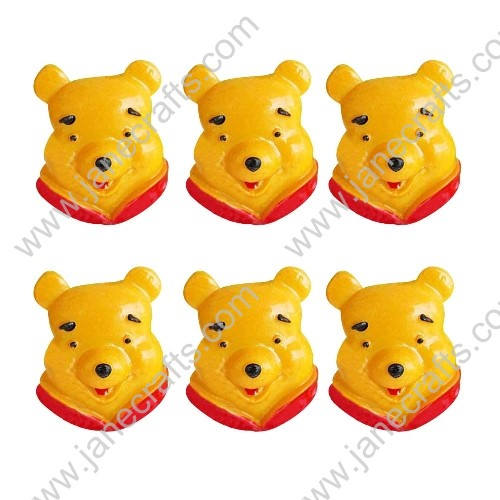 40pcs Resin Winnie The Pooh Head Scrapbooking Hair Bow Center Crafts