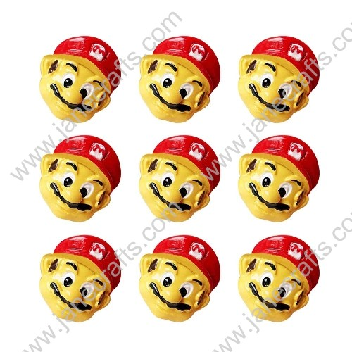 40pcs Resin Super Mario Head Scrapbooking Hair Bow Center Crafts