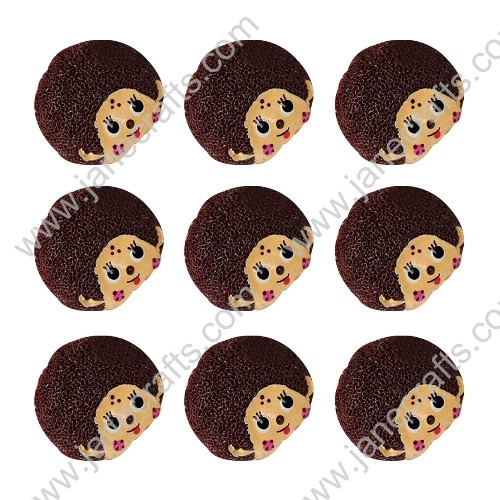40pcs Cartoon Character MARIA MANTEZ Scrapbooking Hair Bow Center Crafts DIY
