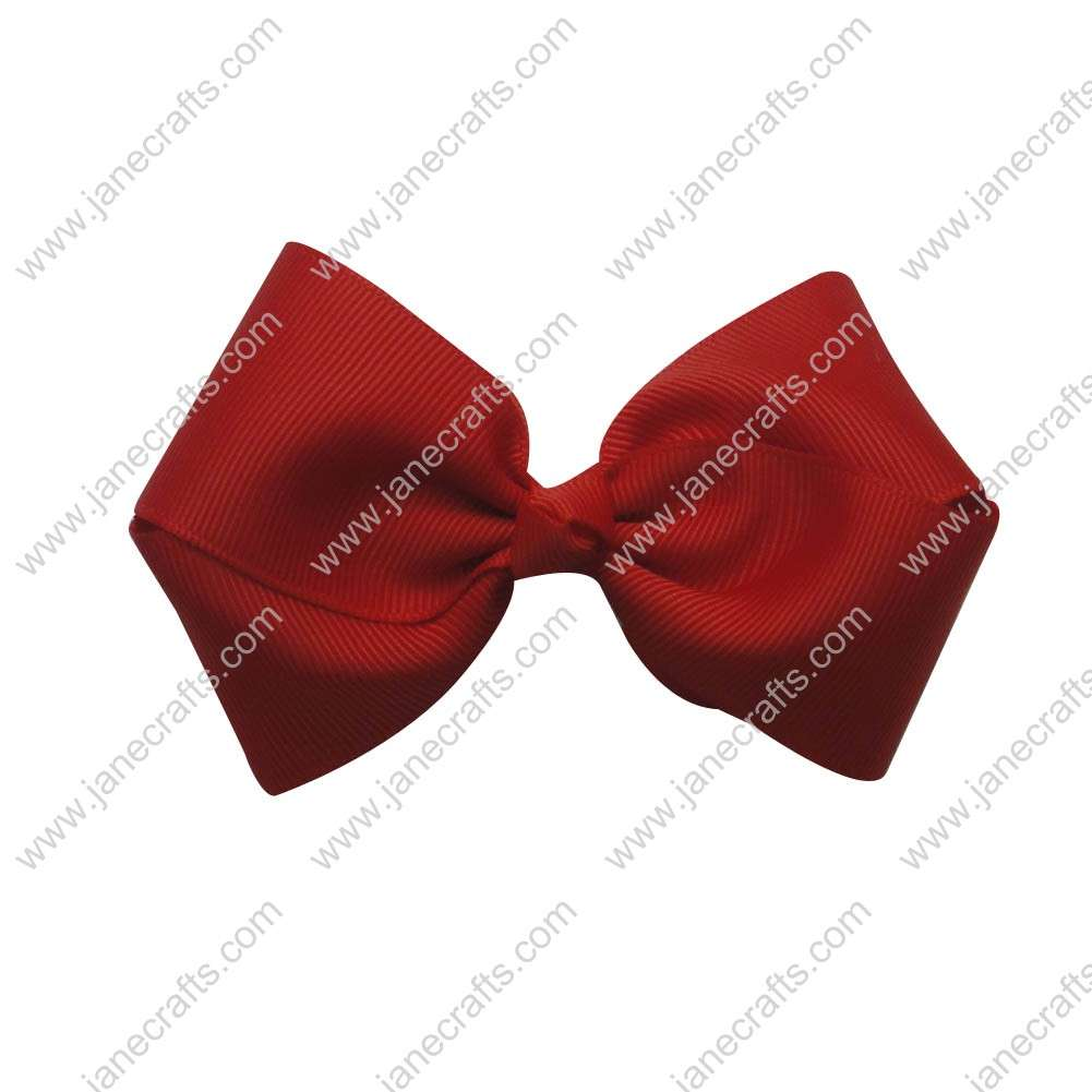"Wholesale Lot 3 1/2"" Valentine's Day Solid Grosgrain Pinwheel Hairbow in Red-30PCS"
