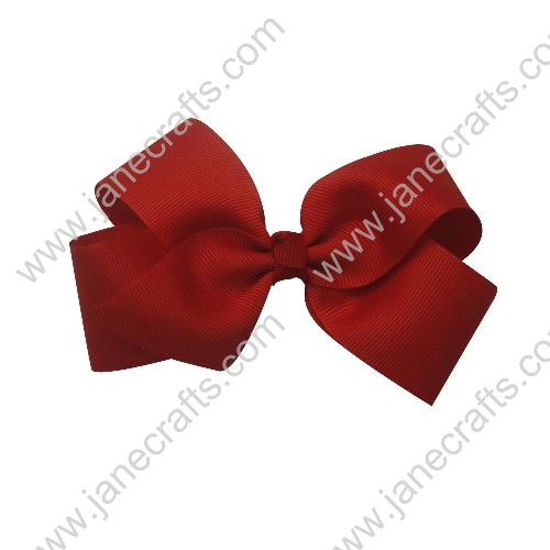 "Wholesale Lot 4"" Solid Grosgrain Baby All Girl Tuxedo HairBow Clips in valentine Red-30PCS"