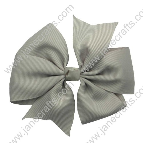 "30PCS 4"" Wholesale Lots Solid Grosgrain Back to School Uniforms Pinwheel Hairbow in Khaki"