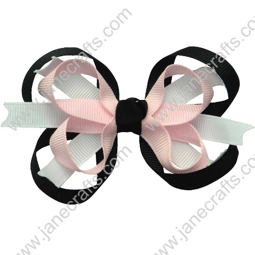 "3.5"" Sweet Baby Girl Hair Accessories Spike Hairbow in Multi-Color Wholesale 12PCS"