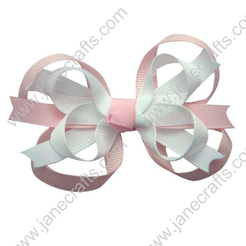 "3.5"" Sweet Baby Girl Hair Accessories Spike HairBow Clips in Multi-Color Wholesale 12PCS"