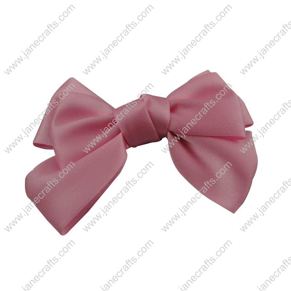 "4"" Satin Hair Bow Clips for girl 24pcs Wholesale-Pink"