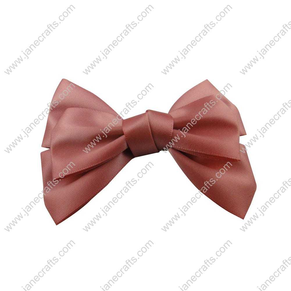 "4"" Satin Hair Bow Clips for girl 24pcs Wholesale-Dusty Rose"