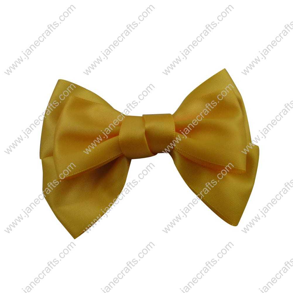 "4"" Satin Hair Bow Clips for girl 24pcs Wholesale-Maize"