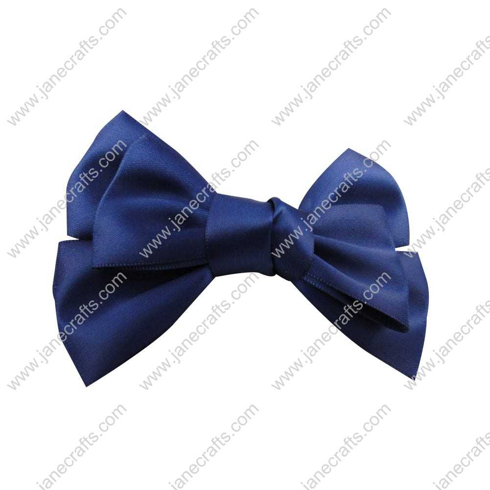 "4"" Satin Hair Bow Clips for girl 24pcs Wholesale-Royal"