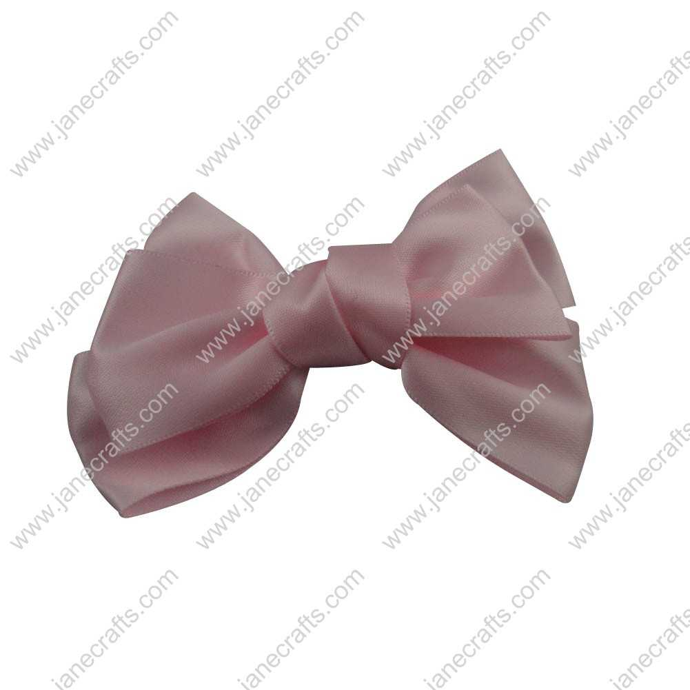 "4"" Satin Hair Bow Clips for girl 24pcs Wholesale-Lt Pink"
