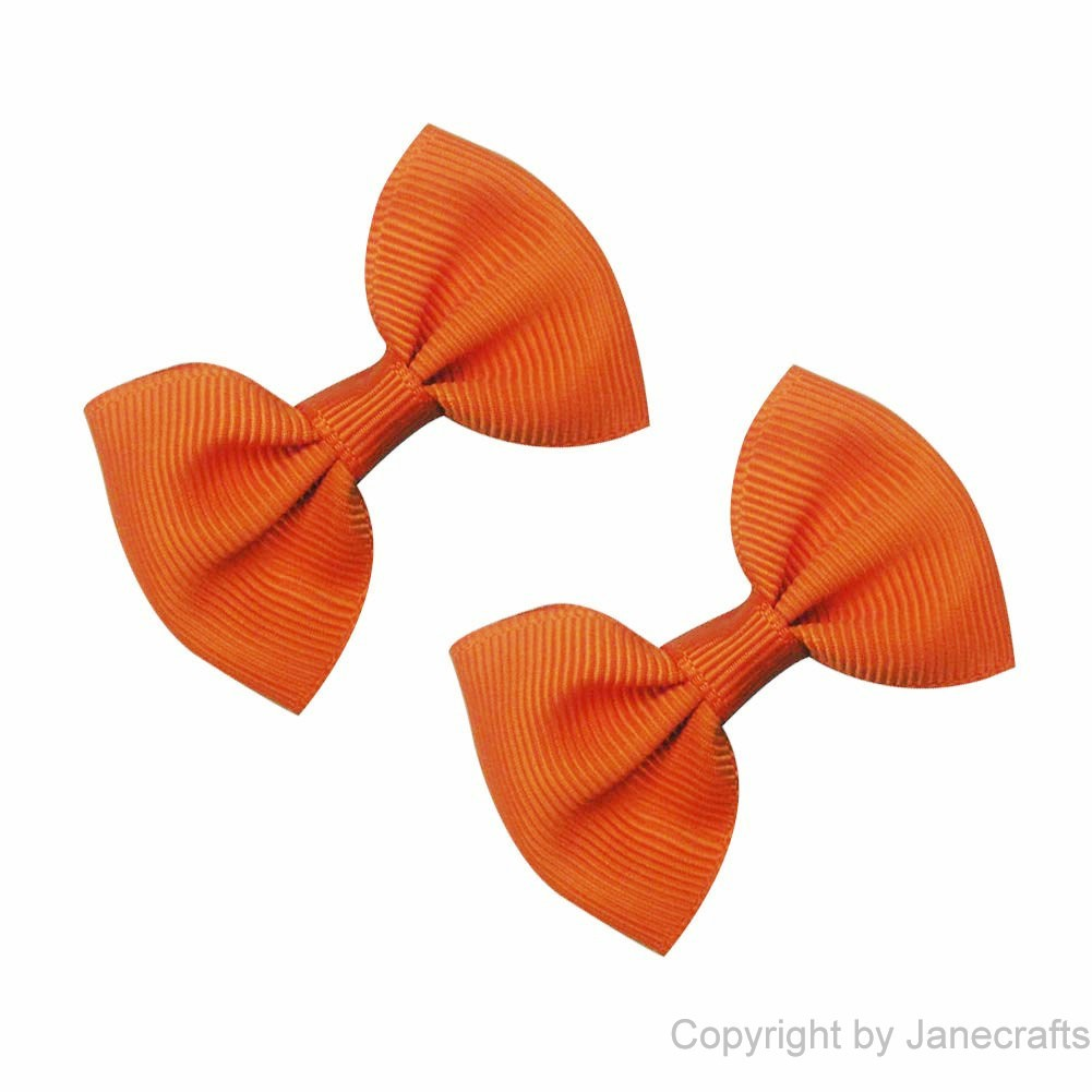 "2"" Small Grosgrain Bowtie Bow in Tangerine-30pcs"