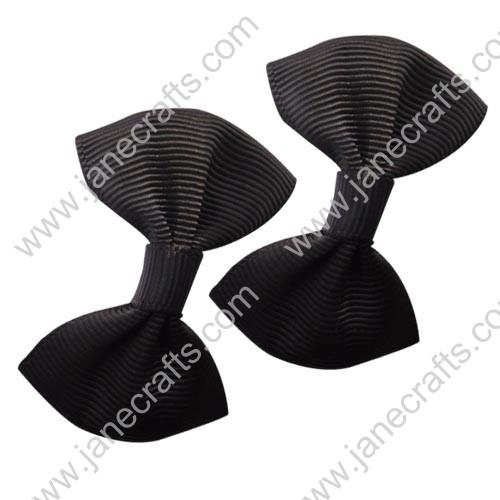 "2"" Small Grosgrain Bowtie Bow in Black-30pcs"