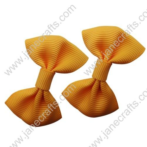 "2"" Grosgrain Bowtie Bow in Yellow Gold-30pcs"