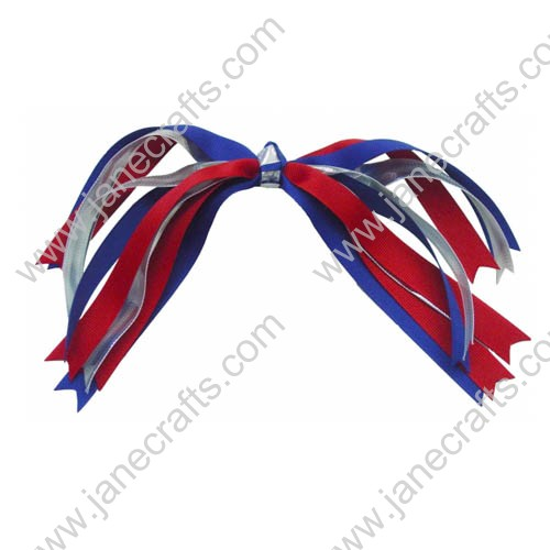 "12"" long Colorful Spike Hair Bow-12PCS"
