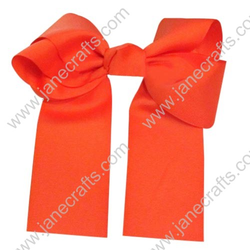 "12PCS Wholesale Lots 6"" Over the Top/Long Tail Cheer Hair bow/Cheerleading-Tangerine"