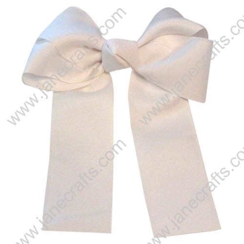"12PCS Wholesale Lots 6"" Over the Top/Long Tail Cheer Hair bow/Cheerleading-White"