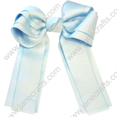 "12PCS Wholesale Lots 6"" Layered Over the Top/Long Tail Cheer Hair bow/Cheerleading-Lt Blue"