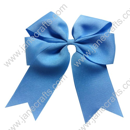 "12PCS Wholesale Lots 4"" Tails Down Solid Grosgrain Cheer Bow/Cheerleading in Sky Blue"