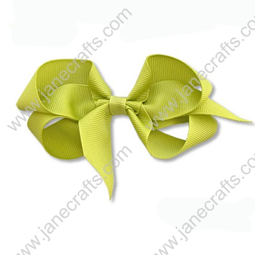 "4""Solid Grosgrain Hair Bow in Pistachio Green-24PCS"