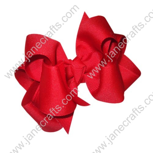 "12PCS 4"" Wholesale Lots Grosgrain Layered Boutique Chunky Baby Girl Hairbow-Valentine Red"