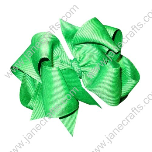 "12PCS 4"" Wholesale Lots Grosgrain Layered Boutique Chunky Hairbow/Baby Girl-Emerald"